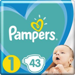 Plienky New Baby-Dry 1 NEWBORN 2-5kg 43ks Pampers